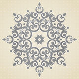 Ornament pattern in Victorian style. Vector baroque ornament in Victorian style. Element for design. It can be used for decorating of wedding invitations Royalty Free Stock Images