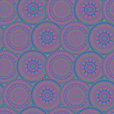 Ornament patterned circles. Oriental green and blue circles purple Stock Image