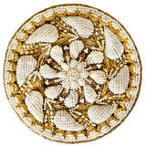 Ornament of pearls, a brooch, an antique. Royalty Free Stock Image