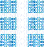 Ornament from the petals  (blue). Pattern composed of different petals. Natural motifs. Duplicate items Royalty Free Stock Images