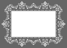 Ornament photo frame. Decorative pattern photo frame, ornament  in vector Stock Images