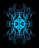 ornament piękna błękitny spirala Zdjęcie Stock