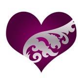 ornament piękne kierowe purpury ilustracji