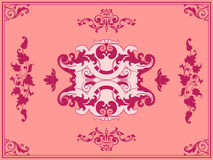 Ornament pink design elements Royalty Free Stock Photography