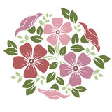 Ornament with pink and purple flowers. Royalty Free Stock Photo