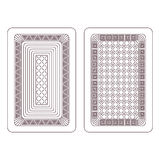 Ornament for playing cards Royalty Free Stock Photography