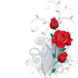 Ornament with red roses Royalty Free Stock Photo