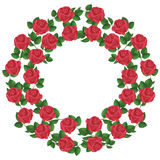 Ornament of red roses, element of design Royalty Free Stock Photos
