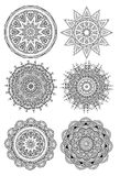 Ornament round set with mandala Royalty Free Stock Images