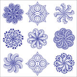 Ornament round set Stock Image