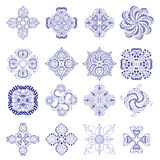 Ornament round set Royalty Free Stock Images
