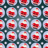The ornament of Santa Claus. Ornament, made of little Santas in the circle Royalty Free Stock Photography