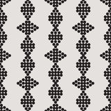 Ornament seamless monochrome figure from circles Stock Image