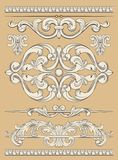 Ornament set Royalty Free Stock Images