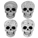Ornament skull set. Stock Photo