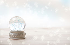 Ornament snow globe Stock Image