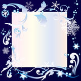Ornament with snowflak Stock Photo