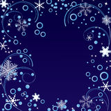 Ornament with snowflakes Royalty Free Stock Images