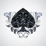 Ornament Spades Royalty Free Stock Image