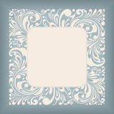 Ornament Square Label Royalty Free Stock Photography