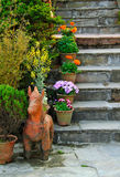Ornament stair in garden Stock Images