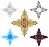 Ornament Star. Isolated 4 point star  ornament design element Stock Photo