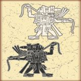 Ornament in stijl van Maya Stock Fotografie