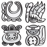 Ornament in stijl van Maya. Stock Foto