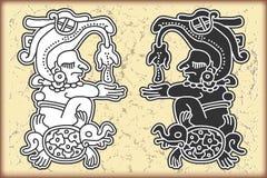 Ornament in stijl van Maya Royalty-vrije Stock Foto's