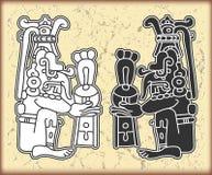 Ornament in stijl van Maya Royalty-vrije Stock Afbeeldingen