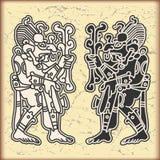 Ornament in stijl van Maya Stock Foto's