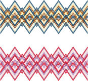 Ornament strip weave varicolored set Stock Images