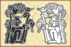 Ornament in style of the Maya Royalty Free Stock Image