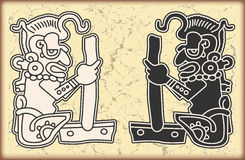Ornament in style of the Maya Stock Image
