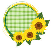 Ornament with sunflowers Royalty Free Stock Photo