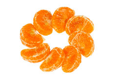 Ornament of tangerine slices Royalty Free Stock Photography
