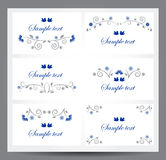 Ornament text divider Stock Photography