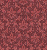 Ornament texture. Fabric seamless ornament Damask style in red and brown royalty free illustration