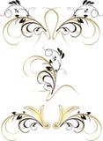 Ornament. Three patterns. Vector illustration Royalty Free Stock Photo