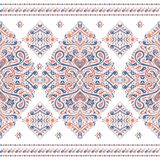 Orange and blue ornamental rhombus seamless pattern. Ornament. Traditional, Ethnic, Turkish, Indian motifs. Great for fabric and textile, wallpaper, packaging or Stock Photography