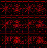 Ornament traditional Russian, Slavic, Balkanian folk ethnic art knitted embroidery Stock Image
