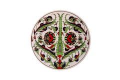 Ornament turkish design ceramic vintage. Turkish design ornament ceramic vintage round Stock Image