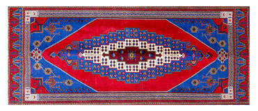 Ornament turkish pattern rug Royalty Free Stock Photo