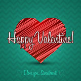 Ornament Valentine Greetings Card. Vector Elements. Isolated Decorative Heart Design. EPS10 Royalty Free Stock Images