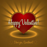 Ornament Valentine Greetings Card. Vector Elements. Isolated Decorative Heart Design. EPS10 Royalty Free Stock Image
