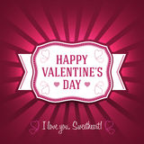 Ornament Valentine Greetings Card. Vector Elements. Isolated Love Celebration Design. EPS10 Stock Images