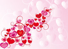 Ornament valentine vector with hearts Royalty Free Stock Images
