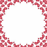Ornament Valentines hearts. Background for Valentine's love letter Stock Photos