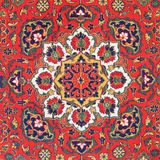 Ornament van Centraal Aziatisch tapijt royalty-vrije stock fotografie