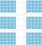 Ornament van de (blauwe) bloemblaadjes Royalty-vrije Stock Afbeeldingen